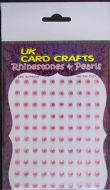 100 X Pink Rhinestones - Self Adhesive - UK Card Crafts